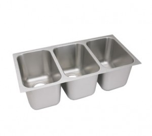 not only is a drop in sink a cheaper route versus buying a full sized compartment sink its also easy to install utilize some of that extra counter space - Three Compartment Kitchen Sink
