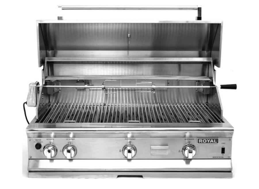 Bpq 42 royal range 42 outdoor gas grill wsmoker box 2 lights royal range bpq 42 42 inch outdoor gas grill wsmoker box aloadofball Gallery