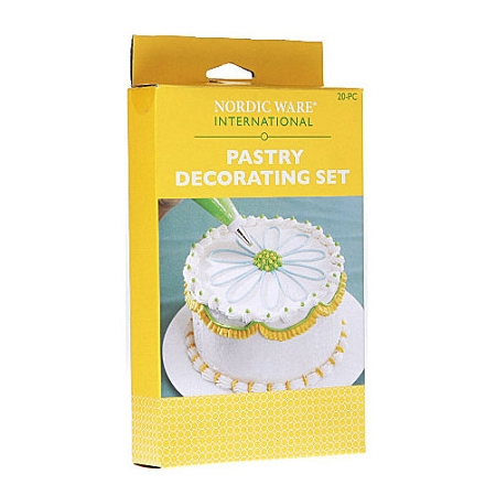 01002 nordic ware pastry decorating set case of 3