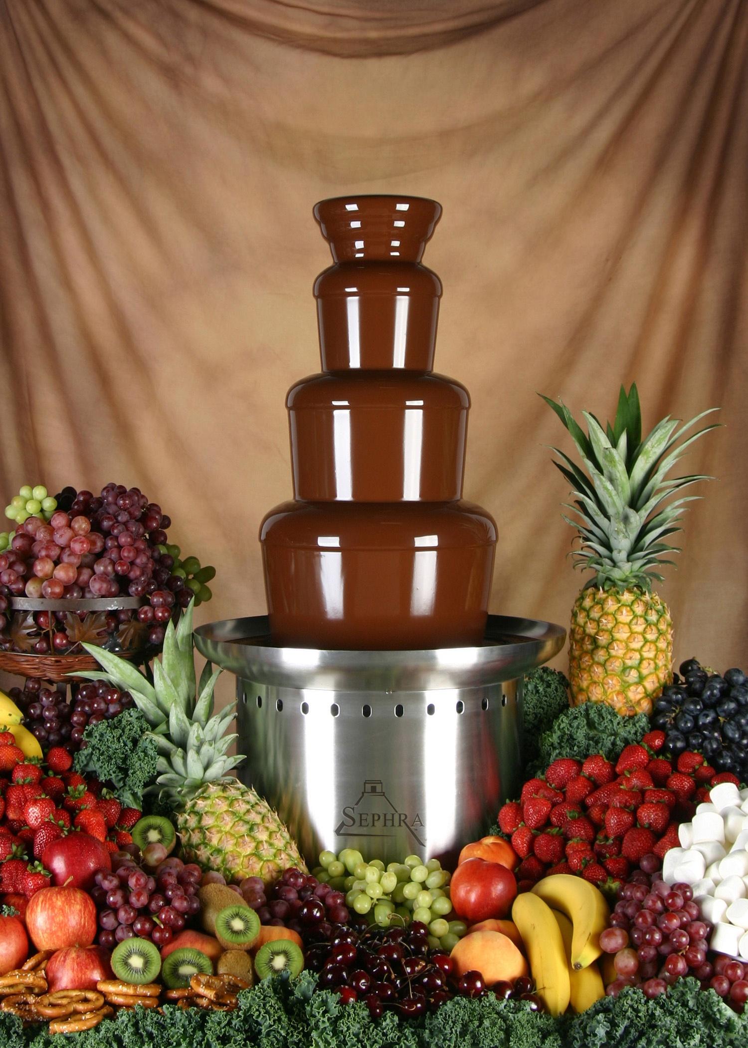 Sephra 10150 Aztec Chocolate Fountain 27 In 3 Tier
