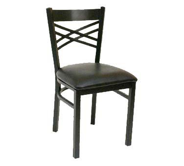 Superieur ATS Furniture 78 BVS LOOSE   Side Chair, Criss Cross Back, Black Vinyl  Seat, Black Metal