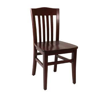 Ats furniture 830 b sws side chair slat back wood seat