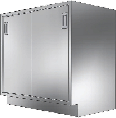 Kloppenberg BD302229 Sliding Double Door Cabinet W O Locks 30 X 22 X 28 3