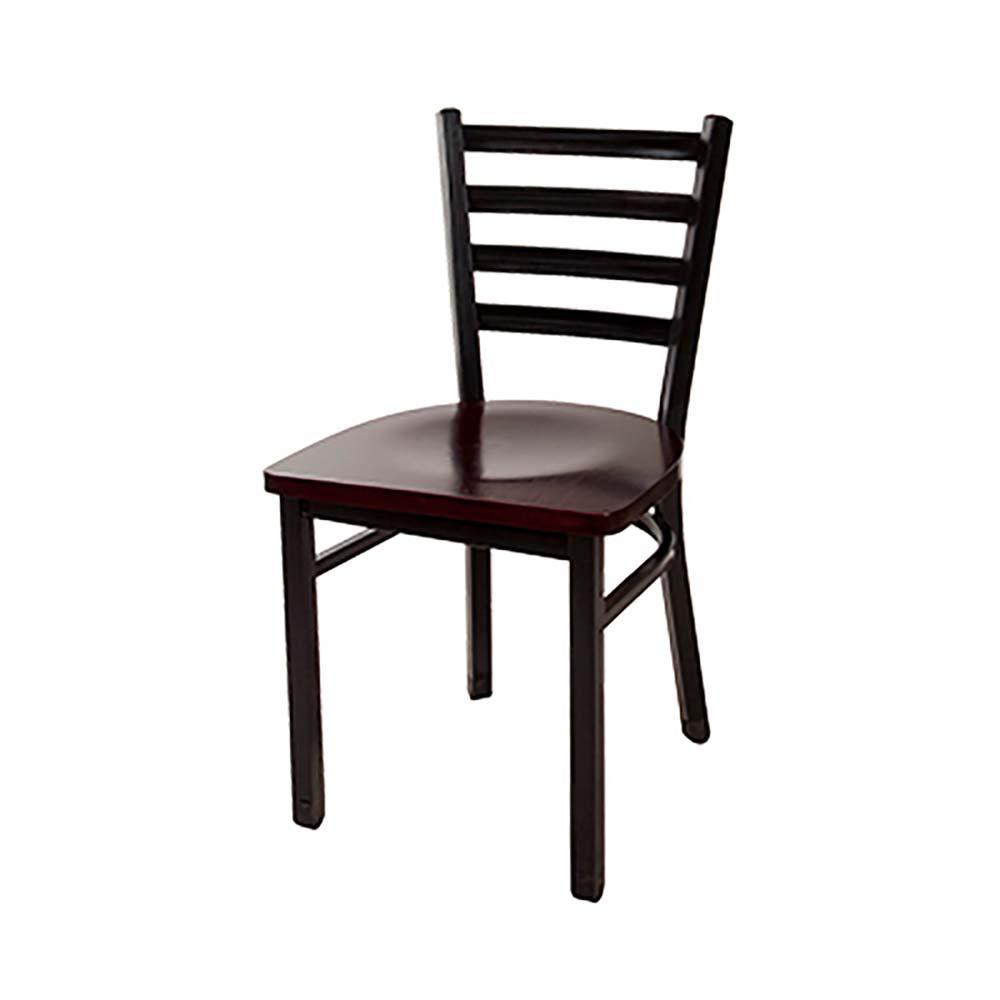 BK MLSC B W BK Resources Dining Chair ladder back wood  : BK MLSC B W from www.jesrestaurantequipment.com size 1000 x 1000 jpeg 50kB