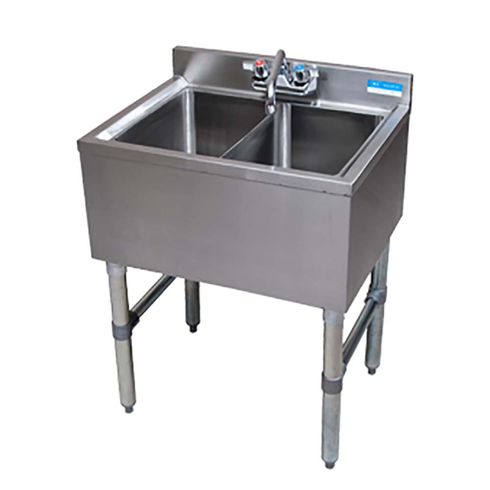 bk resources bkubw336s slimline underbar sink three compartment 36