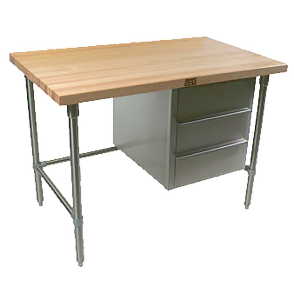John Boos BTNS01   Work Table, 48 Inch W X 30 Inch D, 1