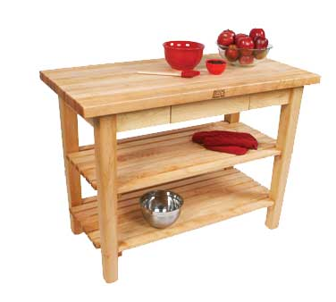 Attrayant John Boos C10 2S   Country Work Table, 48 Inch W X 36 Inch