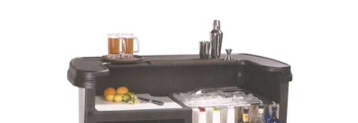 Carlisle 754703   Portable Bar Top, Replacement Top For Maximizer Portable  Bar, Black