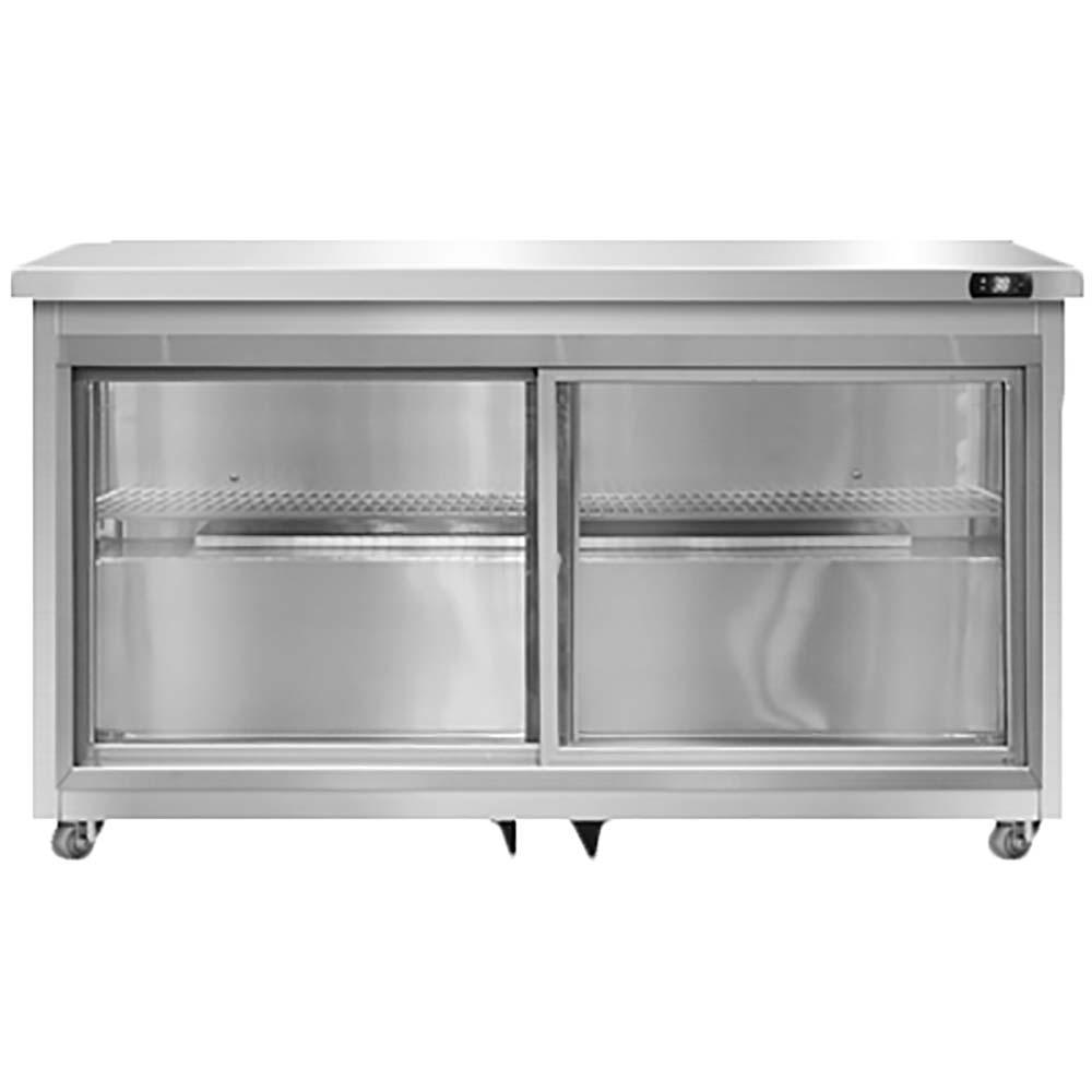 Continental UC48-SGD - Undercounter Display Refrigerator 48\