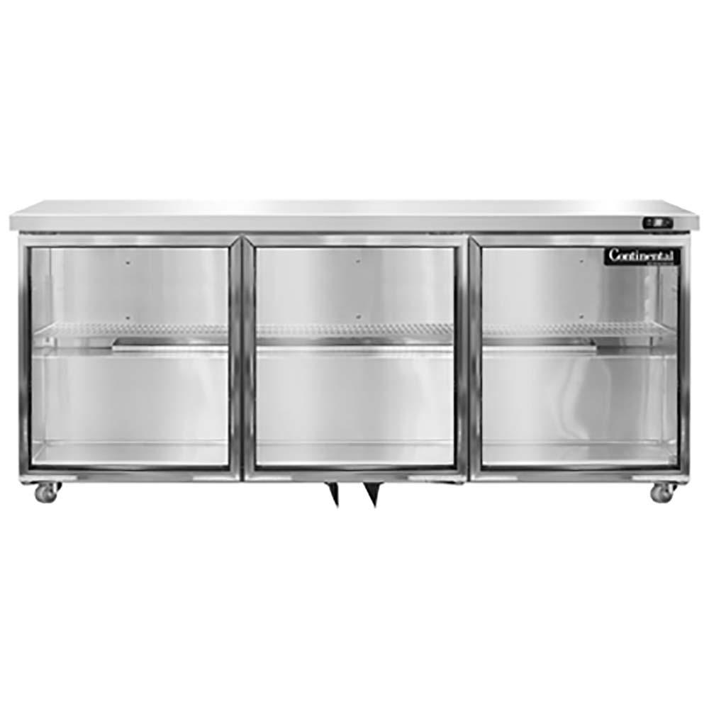UC72-GD Continental Refrigerator - Undercounter Display Refrigerator 72\