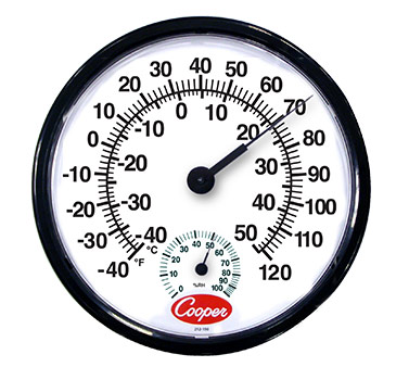 Cooper Atkins 212 150 8   Indoor/Outdoor Wall Thermometer, 12