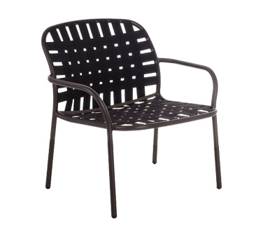 EMU 503   Yard Stacking Lounge Chair, Outdoor/indoor, Woven Elastic Straps  Seat And Back