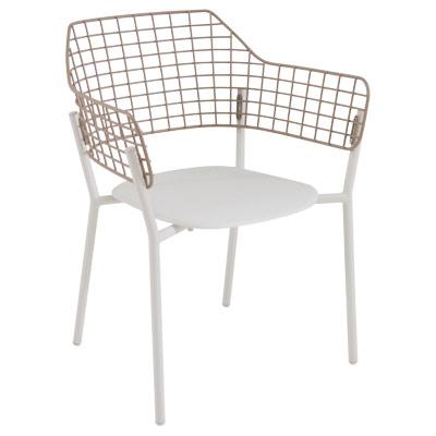 emu 616 lyze stacking armchair outdoor indoor stainless steel