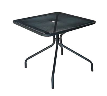 802 emu cambi table with umbrella hole square 36 x for 12 inch square table