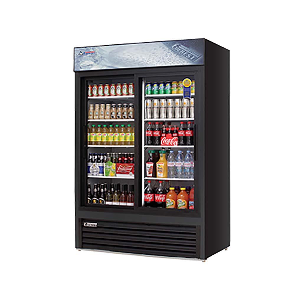 Everest Emgr48b Reach In Glass Door Merchandiser Refrigerator Two