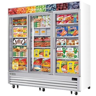Everest emgf69 reach in glass door ice cream freezer merchandiser everest refrigeration emgf69 freezer merchandiser 69 cubic feet planetlyrics Gallery
