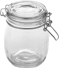 american metalcraft hmj5 glass mason jar whinged lid 26 oz - Glass Containers With Lids