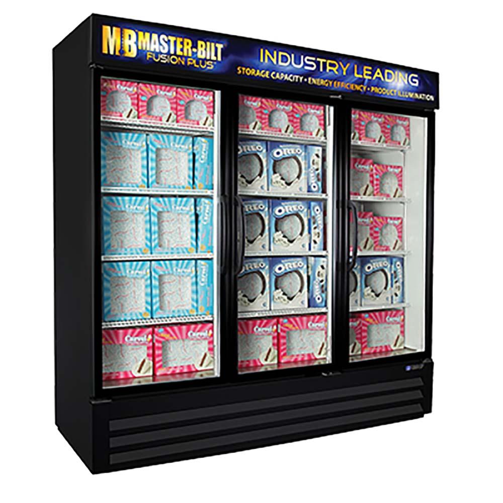 Mbgfp74 Hg Master Bilt Glass Door Freezer Merchandiser 702 Cu Ft