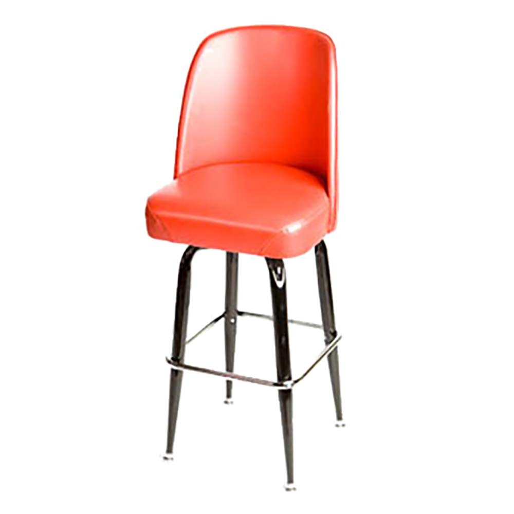 Oak Street Sl2133 Red Red Vinyl Bar Stool W Premium