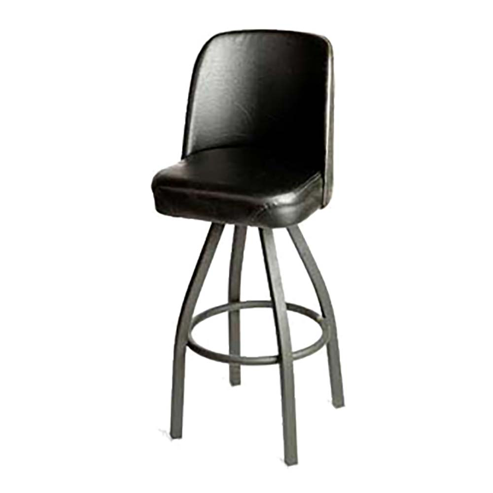 Oak Street Sl0136 Blk Swivel Bar Stool Counter Height