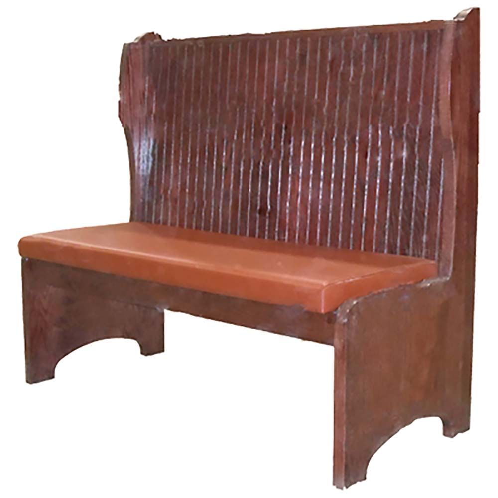 Laredo Booth 30l X 42h Single Upholstered Back Wood Seat