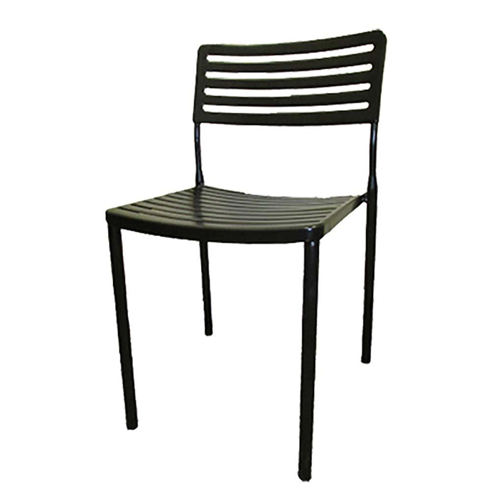 Oak Street OC 130   Boardwalk Dining Chair, Metal Ladder Back U0026 Seat,  Indoor/outdoor Use, Black Matt