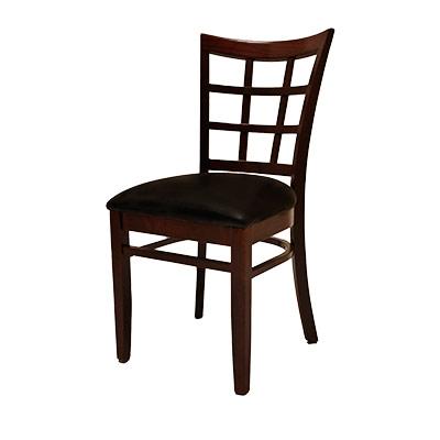 Oak Street WC017WA   Dining Chair, Window Pane Back, European Beechwood  Frame, Walnut