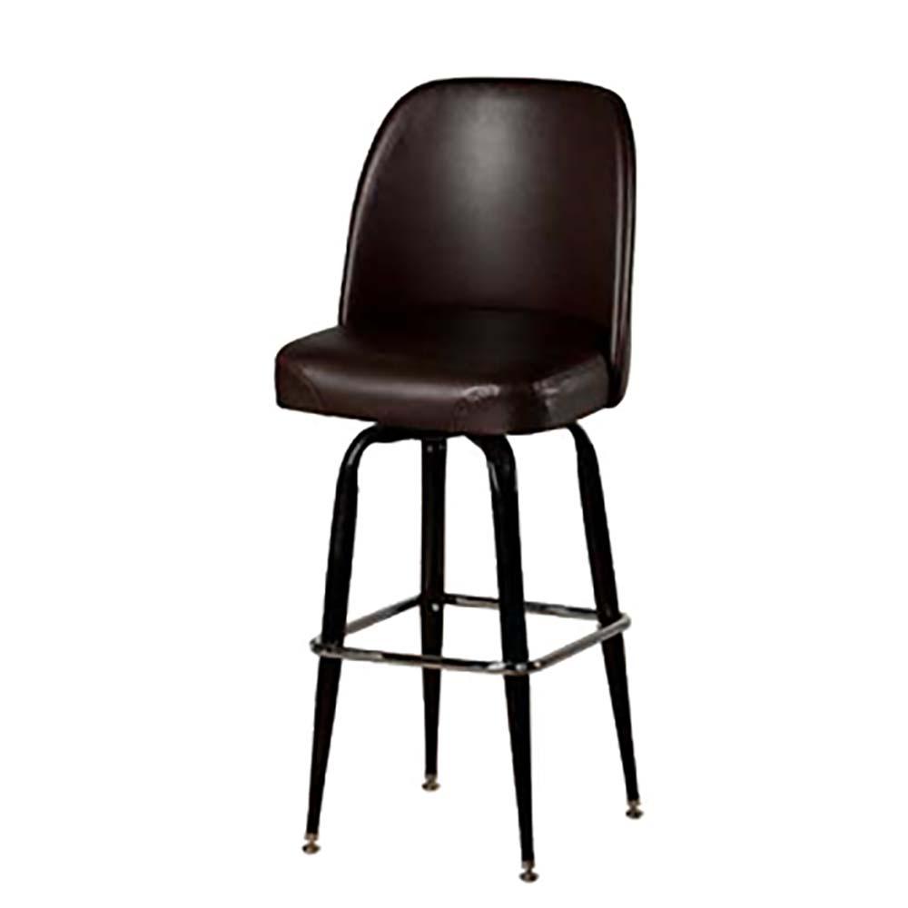 Oak Street SL2133 ESP   Swivel Bar Stool, Upholstered Bucket Seat,  Waterfall Front, 4 Degree Imported Sl