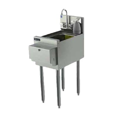 Perlick TS12HSN   Underbar Hand Sink Unit, Free Standing, 12 Inch W X 22