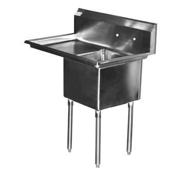 Serv-Ware E1CWP1824L-24 - Economy Series Sink, one compartment, 46\