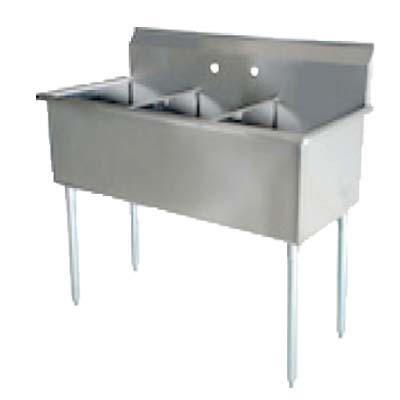 BS3-1821 Serv-Ware - Budget Series Sink, three compartment, 57\