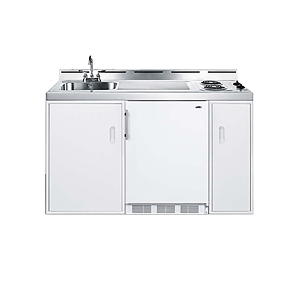 """summit commercial c60el - all-in-one combo kitchen, 61"""" l, one"""