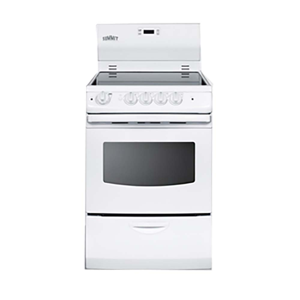 summit commercial rex242w electric range 24 wide white finish. Black Bedroom Furniture Sets. Home Design Ideas