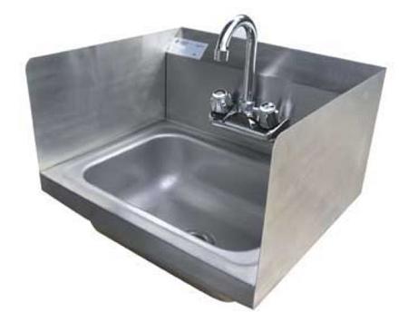 SunFab SFHSSS 1715   Hand Sink, Wall Mount, 17 Inch X 15 Inch