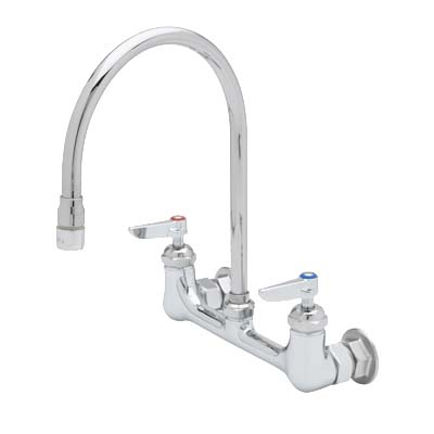 B-0230-134XA-CR T&S Brass - Pantry Faucet, double, wall mount, 8 ...