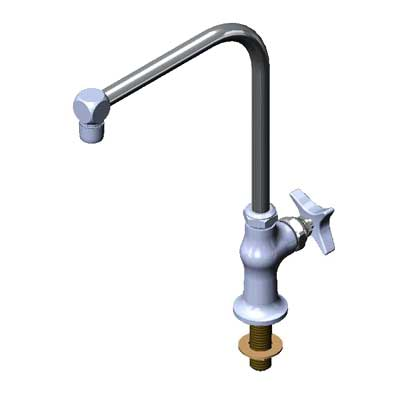 B-0318-01 T&S Brass - Faucet, B-0318 modified, 4-arm handle & red index