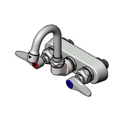 B 1146 01 T S Brass Faucet Workboard Wall Mount 4 Centers 131x Swivel Goos