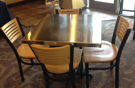 Stainless Steel Top Dining Table Stainless Steel And Glass Dining