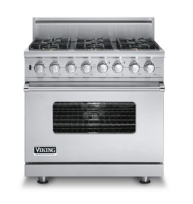 "Buy Viking Appliances - ""VDSC536-6B Viking Range - Custom Dual-Fuel Range, Gas 36 in\"""
