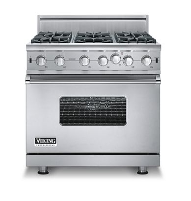 "Buy Viking Appliances - ""VGIC536-6B Viking Range - Custom Open Burner Range, Gas 36 \"""