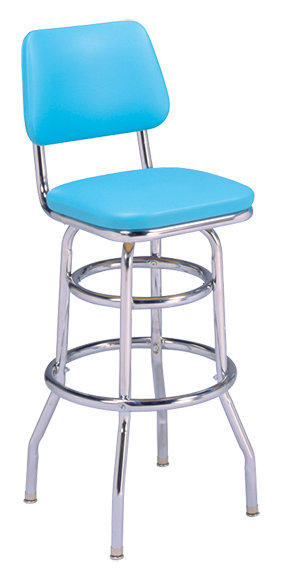 215 530 Vitro Classic Stool With Back Amp Double Ring Base