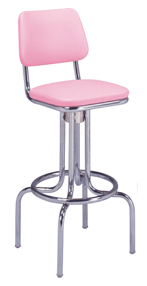 264 530 Vitro Classic Stool With Back Amp Bent Legs 30 Quot H