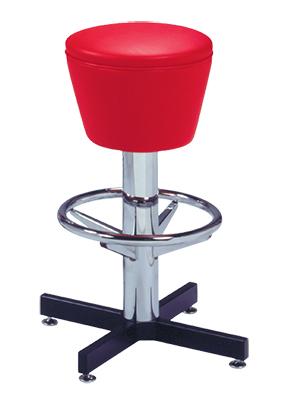 500 161 Vitro Classic Drum Seat Stool With Cross Feet