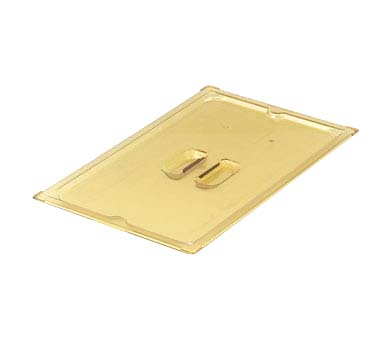 vollrath 33500 super pan 3 2 4 gn solid cover high temp amber plastic