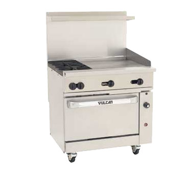 ... Vulcan - Endurance Restaurant Range w/Griddle Plate & Convection Oven