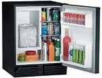 CO29B-03 Uline - Black Marine/RV Combination Refrigerator and Ice Maker, 110V.