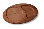 1024402 Tomlinson Industries - 10 in. Wooden Under Liners, Split Oval Skillet & Crescent Platter (Case of 12)