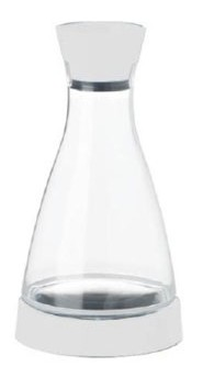 "E509684 Frieling - Carafe, 34 oz., 5-1/2"" x 5-1/2"" x 10"", with cooling coaster keep"