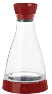 "E509685 Frieling - Carafe, 34 oz., 5-1/2"" x 5-1/2"" x 10"", with cooling coaster keep"