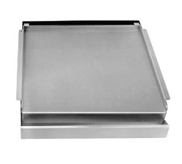 "133-1003 Franklin Machine - Add-On Griddle Top, covers 4 burners, 23"" x 23"" grill surface, r"